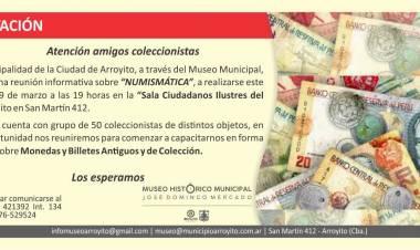 Reunión informativa sobre Numismática en el Museo Municipal