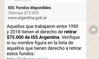NUEVA ALERTA POR MENSAJE QUE OFRECE $75 MIL A TRABAJADORES