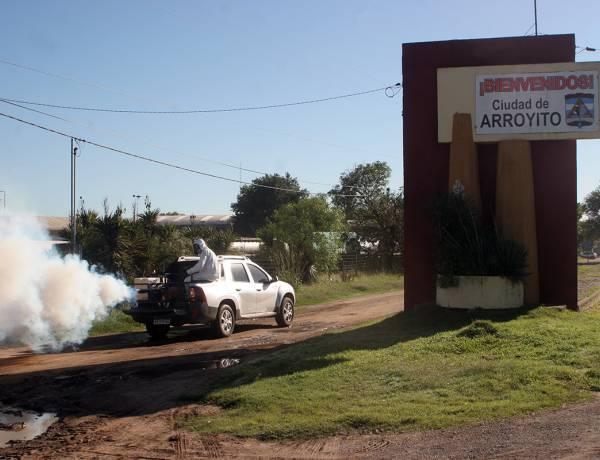 Se comenzó con la fumigación contra Mosquitos  vector de Dengue, Sika y Chickungunya