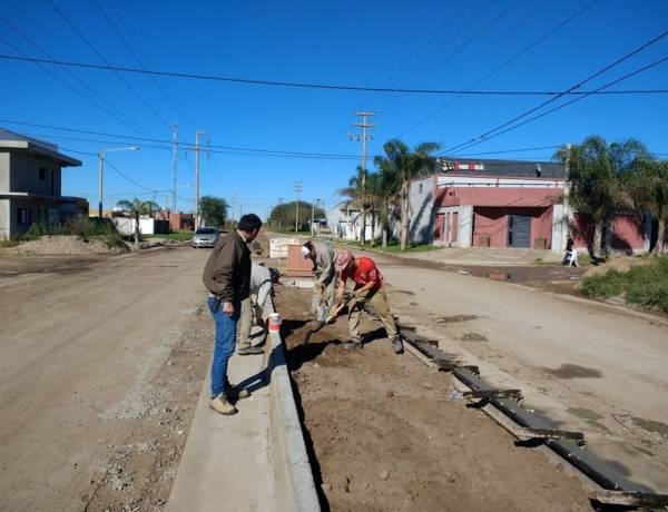Se lleva a cabo la obra de cordón cuneta en Avda. Gregorio Careto