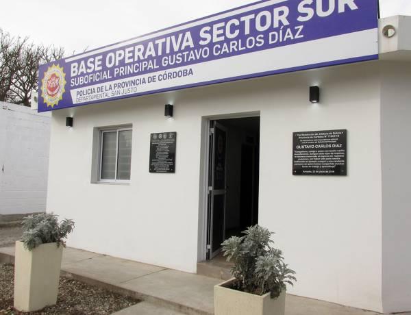 """Se le designo nombre a la Base Operativa Sector Sur: """"Suboficial Principal Gustavo Carlos Díaz"""""""
