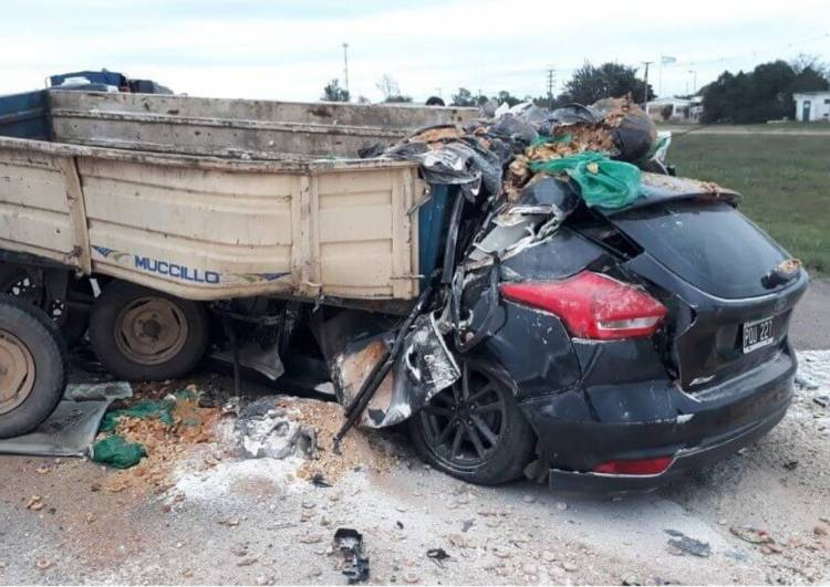 Impactante accidente : Dos muertos  sobre ruta 19 en Monte Cristo