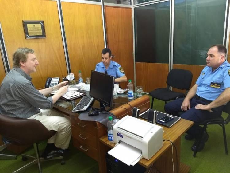 El Secretario de Gobierno se reunió los Comisarios Berardo y Salguero